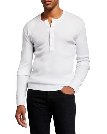 Men's Solid Cotton Henley Shirt