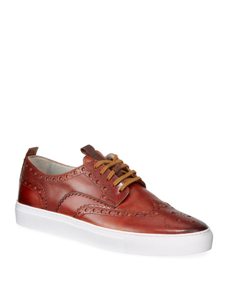 Men's Leather Brogue Sneakers
