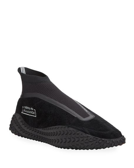Men's Kamanda Textured-Sole Nubuck Sneakers