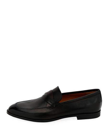Men's Welney Crisscross-Strap Leather Loafers