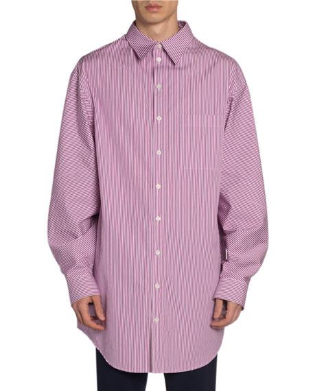 Men's Striped Long Shirt