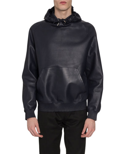 Men's Leather Sweatshirt