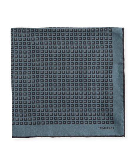 Men's Silk Square-Motif Pocket Square