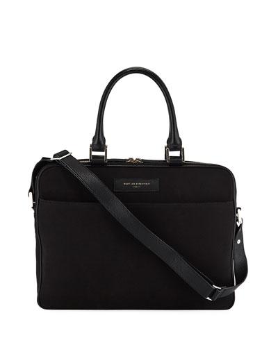 Men's Haneda Slim Canvas Briefcase Bag