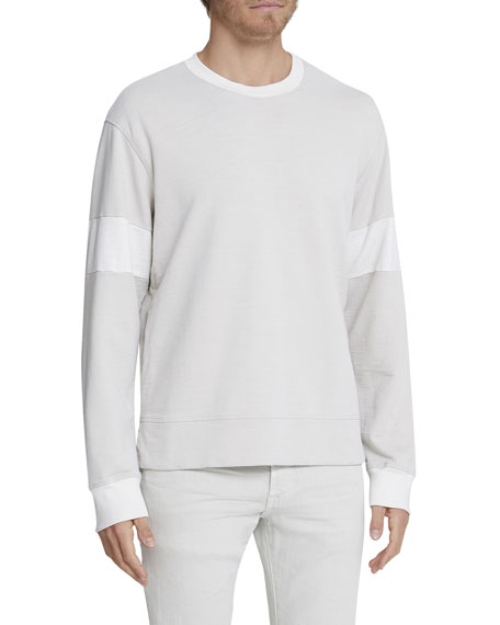 Image 1 of 1: Men's Hydro Colorblock Crewneck Long-Sleeve T-Shirt