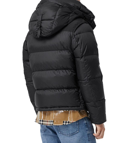 Men's Lockwell Quilted Puffer Jacket w/ Signature Check Trim