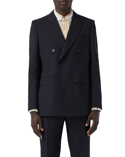 Men's Double-Breasted Suit Jacket