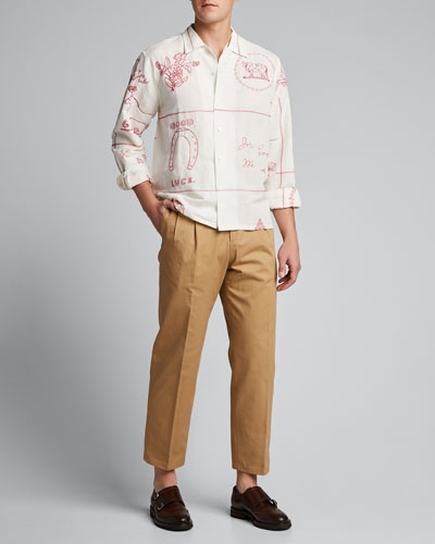 Men's Edwardian Redwork Havana Shirt
