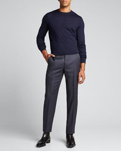 Men's Achillfarm™ Wool-Blend Dress Pants