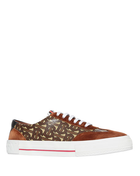 Image 1 of 1: Men's Nelson TB Monogram Sneakers with Suede Trim