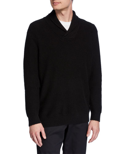 Men's Cashmere Shawl Collar Popover Sweater