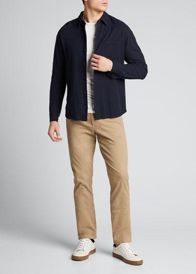 Men's Solid Oxford Pique Sport Shirt