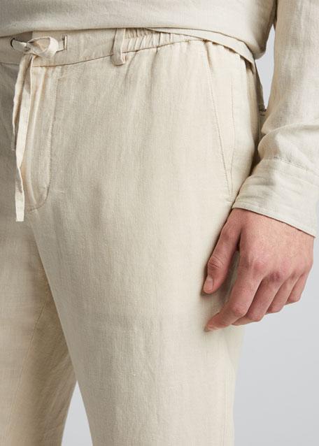 Men's Lightweight Drawstring Hemp Pants