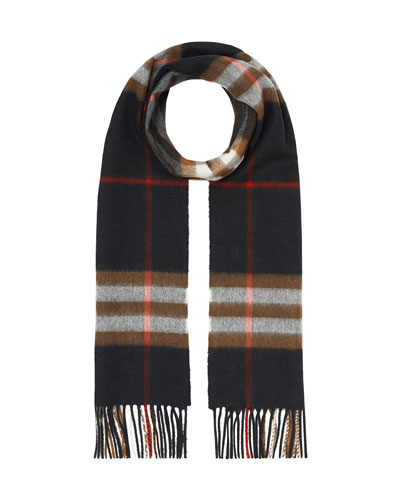 Men's Giant Check Cashmere Scarf