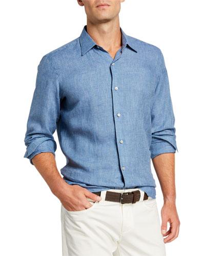 Men's Arizona Striped Linen Sport Shirt
