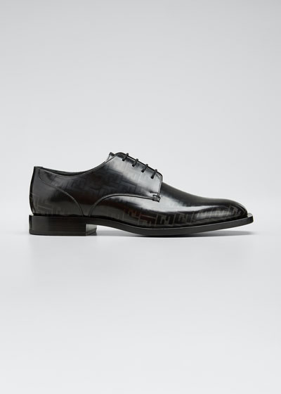 Men's Faded FF Leather Derby Shoes