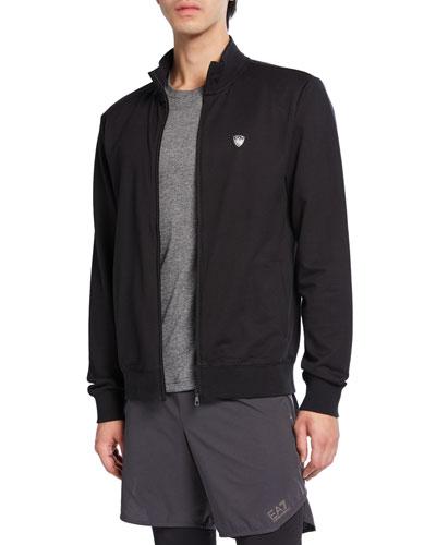 Men's EA7 Train Core Shield Zip-Front Jacket