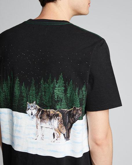 Men's Full Moon Wolf Graphic T-Shirt