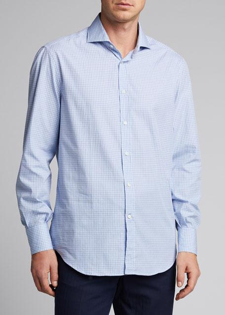 Men's Micro Plaid Sport Shirt