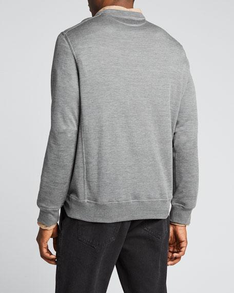 Men's Silk-Blend Sweatshirt