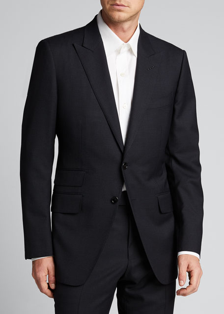 Men's O'Connor Base Micro-Check Two-Piece Suit