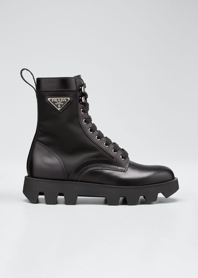 Men's Nylon-Inset Leather Boots