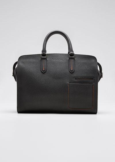 Men's Large Leather Blazer Briefcase