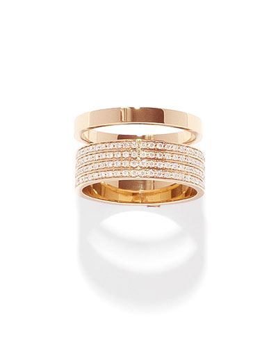 Technical Berbere Diamond Band Ring in 18K Gold