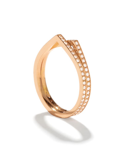 Antifer Two-Row Ring with Diamonds in 18K Gold