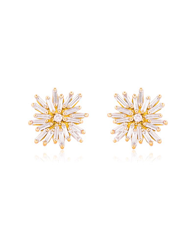 Burst 18k Yellow Gold Diamond Stud Earrings