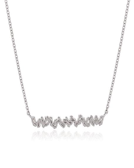 18k White Gold Diamond Fireworks Necklace