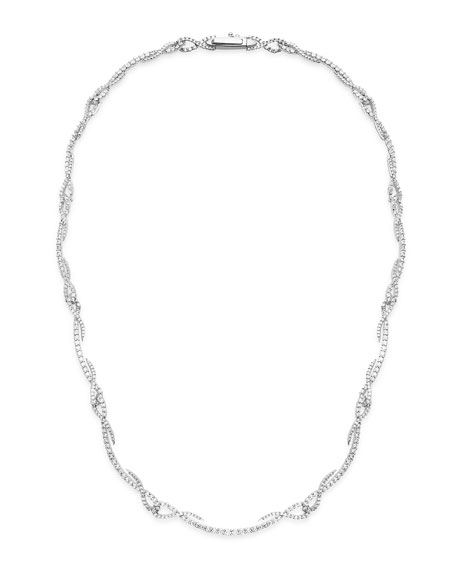 Tracer 18k White Gold Twisted Diamond Necklace