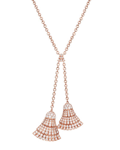 Ventaglio 18k Rose Gold Necklace w/ Diamonds