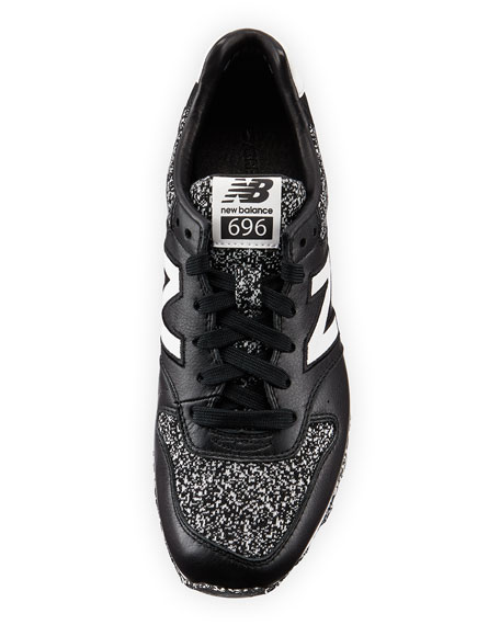d87d6fd0fc54 New Balance 696 Metallic Detailed Leather Trainer
