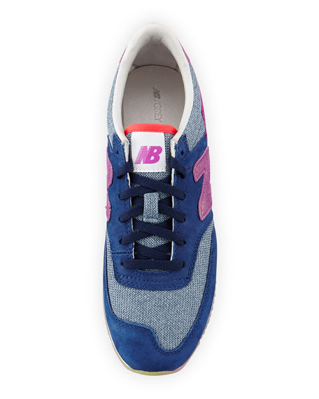 620 Suede & Woven Trainer, Pink/Purple/Blue