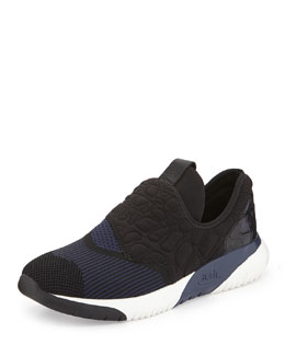 Soda Quilted Neoprene Sneaker, Black
