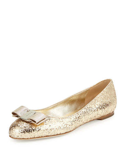 Varina Glitter Bow Ballet Flat