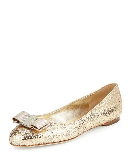 ad529a21ca Varina Glitter Bow Ballet Flat
