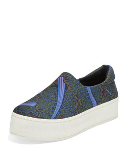 Swiss Chard Platform Slip-On