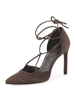 On-a-String Suede Pump