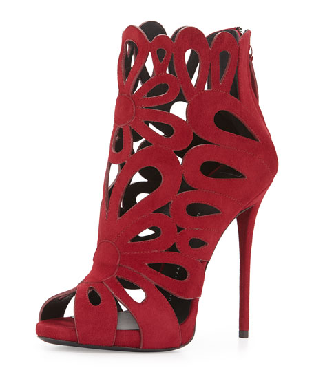 Giuseppe Zanotti Floral Cutout S... brand new unisex cheap price clearance store for sale clearance perfect gpQITYAqK