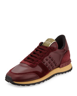 Rockrunner Leather Rockstud Sneaker