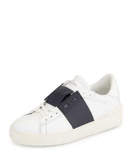 White and Navy Valentino Garavani Open Sneakers Valentino TXFvQ5