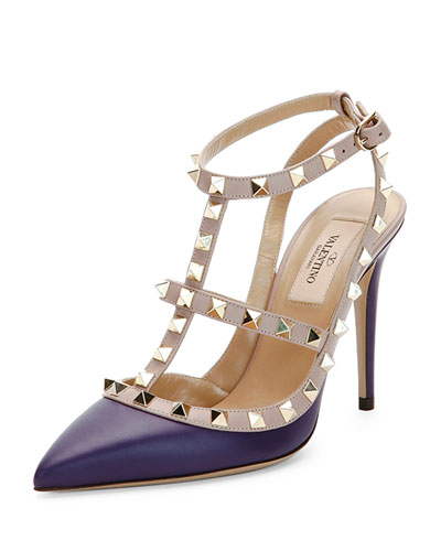 Rockstud Two-Tone Leather Pump