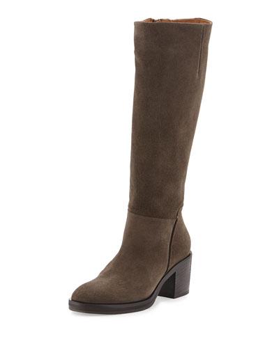 Noretta Suede Block-Heel Knee Boot
