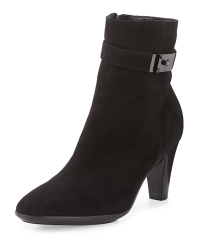 Danele Buckled Suede Ankle Boot