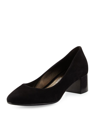 Patrice Suede Low-Heel Pump