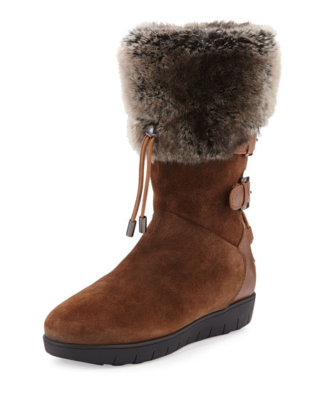 Weslyn Faux-Fur-Trimmed Toggle Snow Boot