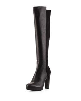 Nudemiswoon Platform Knee Boot