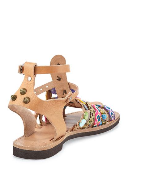 Saltwater Woven Tassel Gladiator Sandal